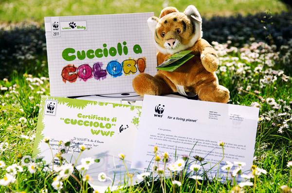 La tigre del kit associativo per bambini del Wwf